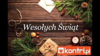 Kontri.pl życzy 🎅🏻 Wesołych Świąt 🎁 Szczęśliwego Nowego Roku 🎄